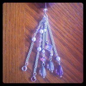 lia sophia long gem light purple necklace